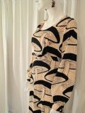 Early 1970's Mushroom print vintage evening dress Peterson Maid of London ***Sold***